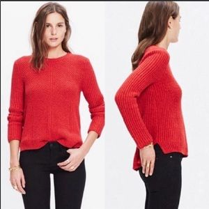 Madewell Holcomb Knit Textured Sweater Pullover